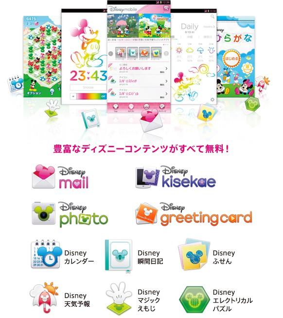 มือถือญี่ปุ่น Docomo N-03E Disney ฟังก์ชั่น