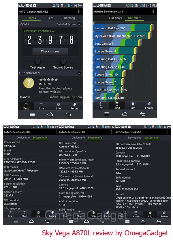 Sky Vega A870L - Omega Gadget 5