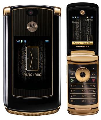 Motorola RAZR2 V8 Luxury Gold Edition - Omega Gadget 1