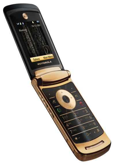 Motorola RAZR2 V8 Luxury Gold Edition - Omega Gadget 2