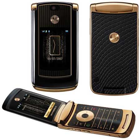 Motorola RAZR2 V8 Luxury Gold Edition - Omega Gadget 3