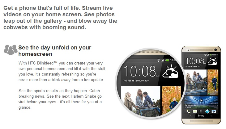 HTC One M7 สีทอง - Omega Gadget 7